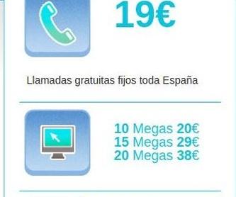 Fibra - Tarifas: Servicios    de ISP Cable