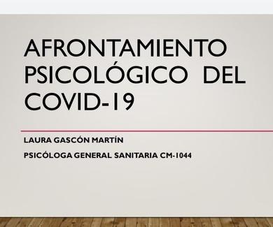 AFRONTAMIENTO PSICOLÓGICO DEL COVID-19