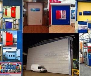 Fabricación de puertas rápidas de cortinas de lona pvc