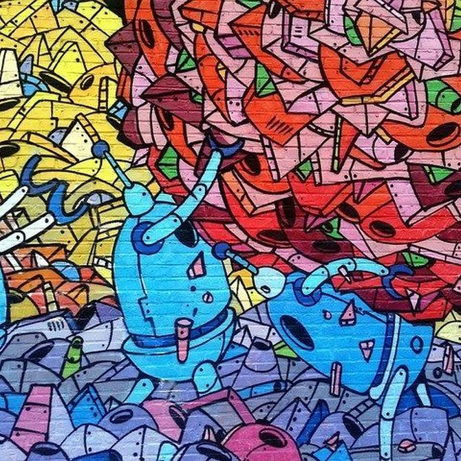 La plaga de los grafitis en las puertas de garaje