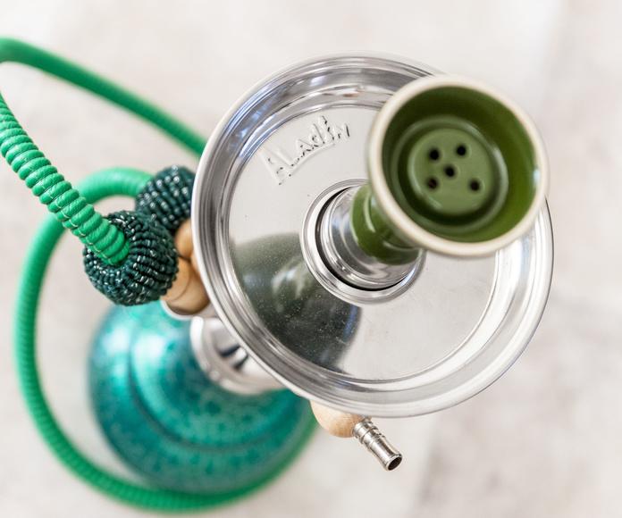 Shisha color verde esmeralda marca Aladin disponible es más colores