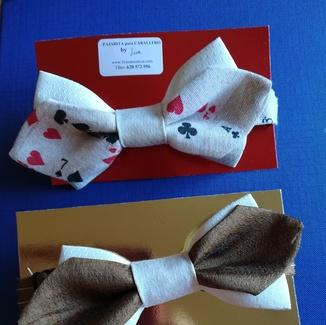 Lira ha creado pajaritas de caballero con forma de picos.