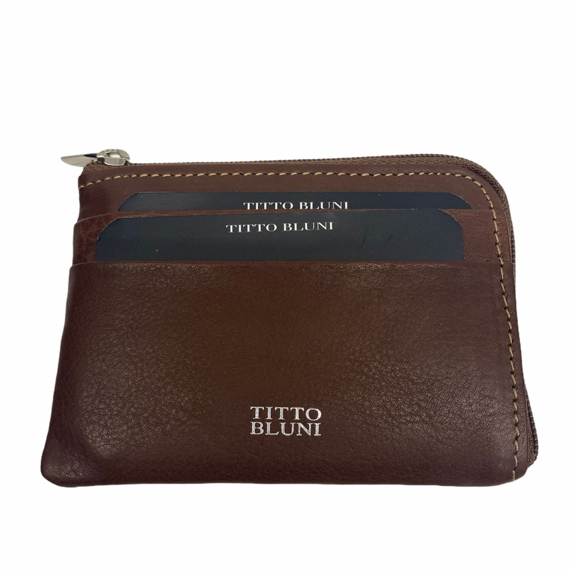 Tarjetero monedero de TITTO BLUNI, Piel , Ref. 602, Precio 14€