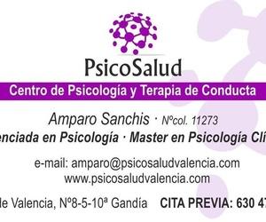 Amparo Sanchis Máster en Psicología Clinica