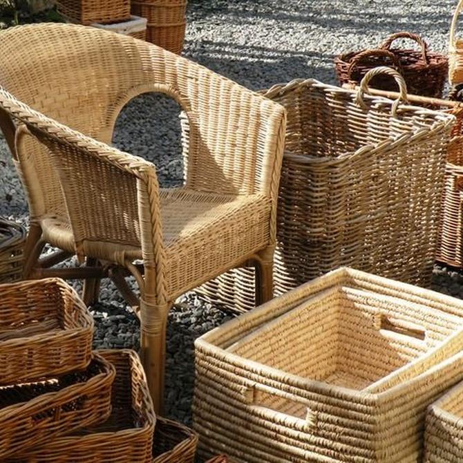 Muebles de mimbre para decorar tu casa
