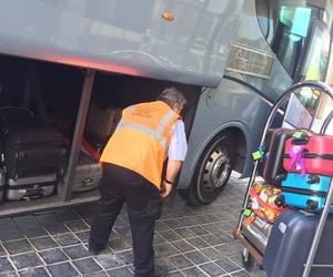 Transporte de equipaje de terminales del aeropuerto