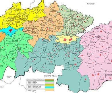 Nuestras zonas de trabajo en la Provincia de Toledo