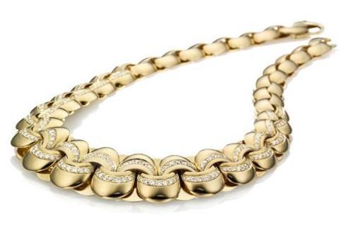 Gargantilla de oro con diamantes