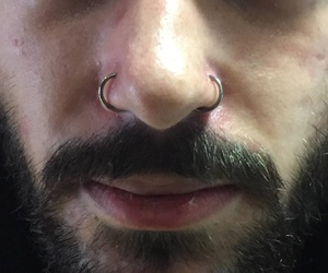 Double nose ring by Antuan
