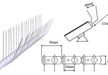 Pinchos control de aves Spiketrack PowerSolar