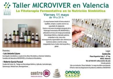 Taller MICROVIVER en Valencia.Centro Do. 11 de mayo 2018, de 19h a 21h
