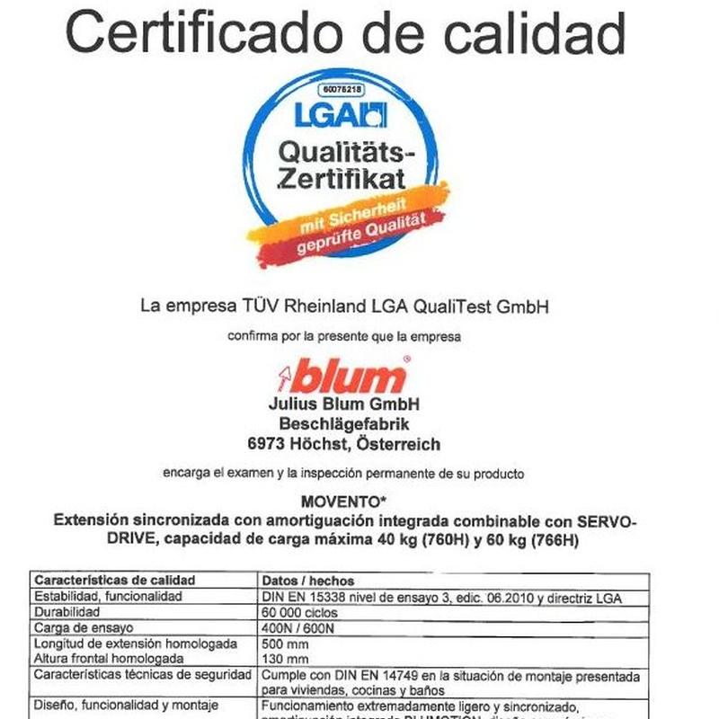 Certificado Calidad LGA