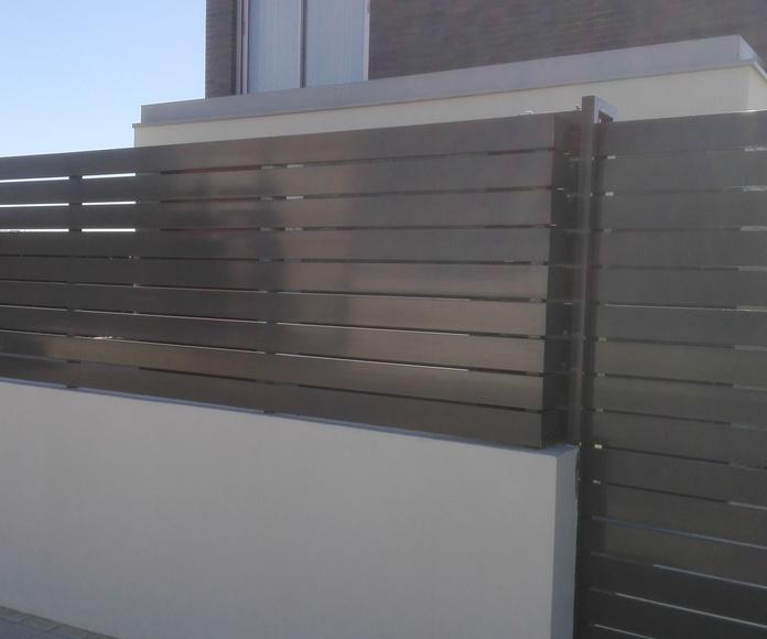 Puerta corredera de Alumino parcela FAREM AGMA