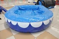 piscina con suelo hinchable