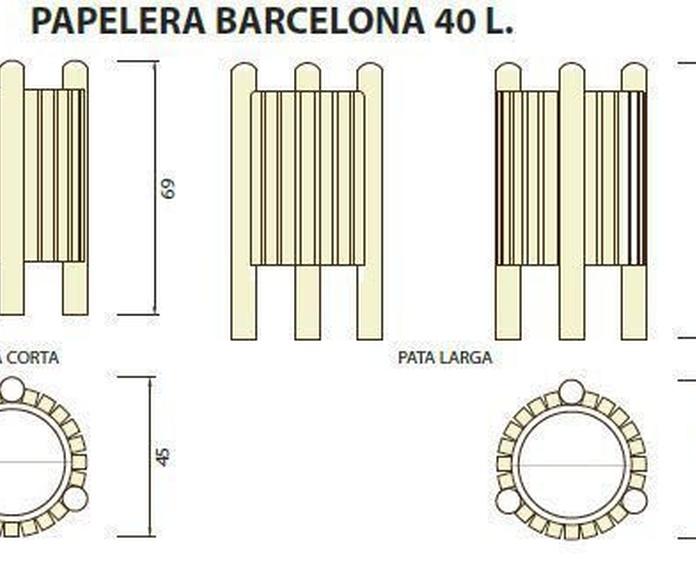 Papelera Barcelona 40l: ¿Qué podemos ofrecerte? de CM PLASTIK RECYCLING