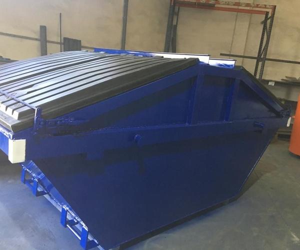 contenedor de 7m cúbicos con tapas