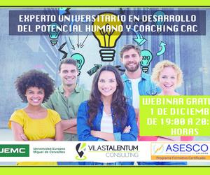 """WEBINAR EN LA ACADEMIA ON LINE DE VILAS TALENTUM CONSULTING -""""EXPERTO UNIVERSITARIO EN COACHING"""""""