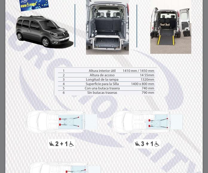 Rebaje de piso Renault Kangoo Maxi cajeado adaptación de vehículos Asturias