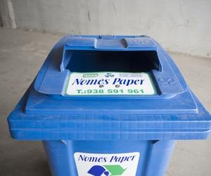 Contendedor para reciclar papel