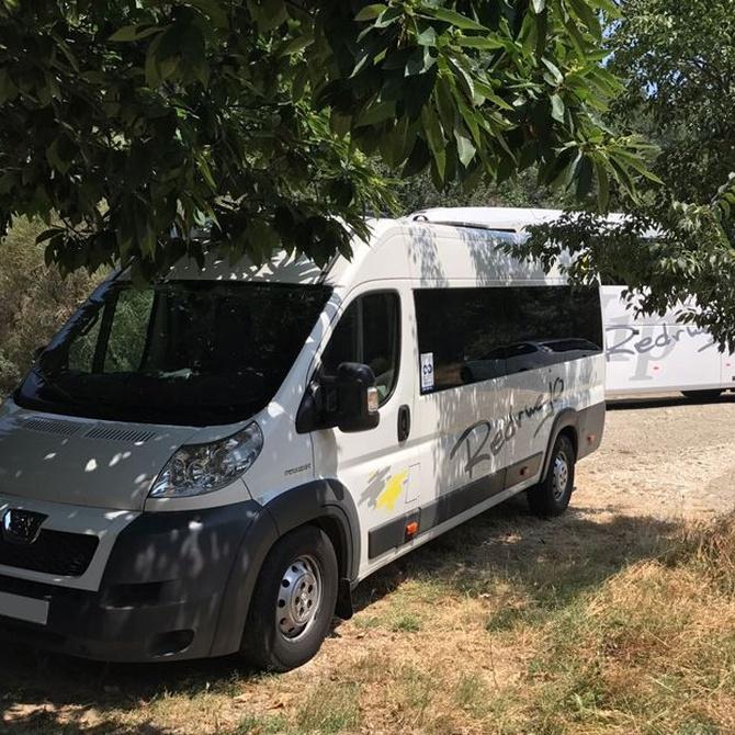 Los autobuses en los eventos