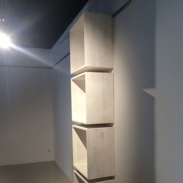 Cubos de pino patinado