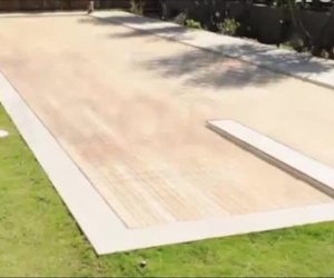 Plataforma movil de piscina