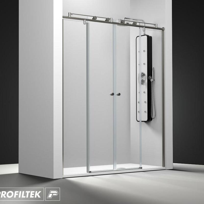 Mampara de baño Profiltek corredera serie Steel modelo ST-225 Light