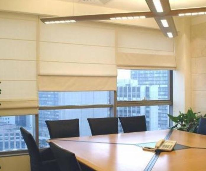 Cortinas  - Panel Japonés - Plegables - Rieles de aluminio  : Productos y servicios de Metal Masa, S.L.