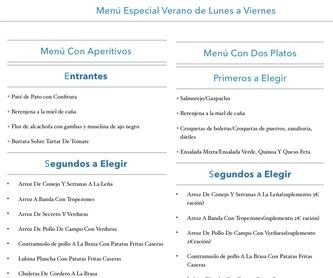 Menú de San Valentin: Carta, Menús y Bodega de Restaurante Bonavista (Club de Campo Elche)