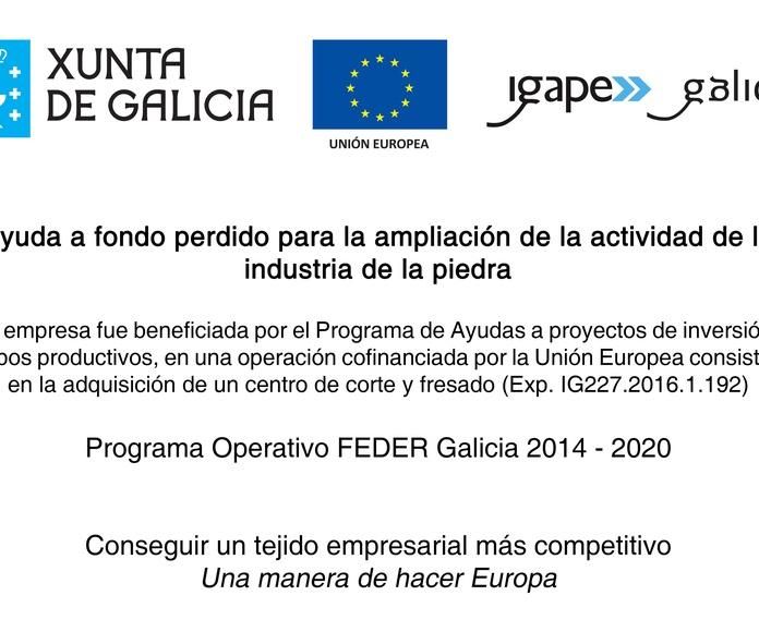 FEDER Galicia 2014 -2020: Servicios de Marmolería José Rey