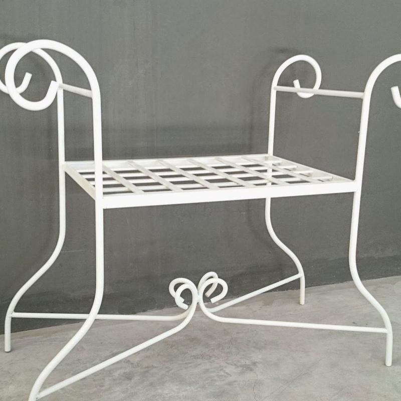 Banqueta Coruña: Catálogo de muebles de forja de Forja Manuel Jiménez