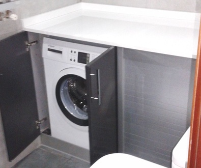 Muebles de cocina adaptados para el baño