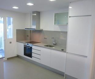 Cocinas Lacadas Alto brillo tirador perfil de aluminio
