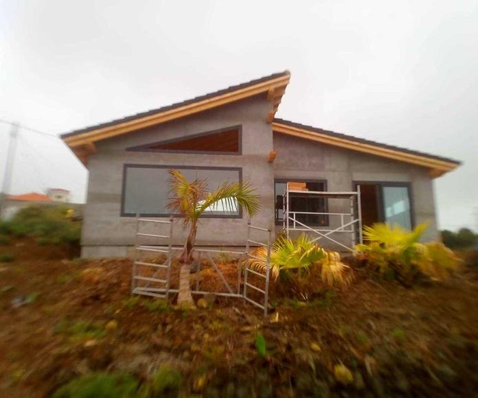 Casa en La Palma con fachada ventilada Viroc Frente