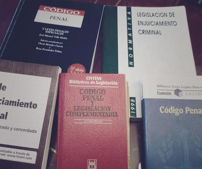 Especialistas en Materia Penal