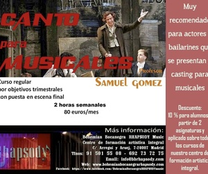 CANTO PARA MUSICALES con SAMUEL GÓMEZ