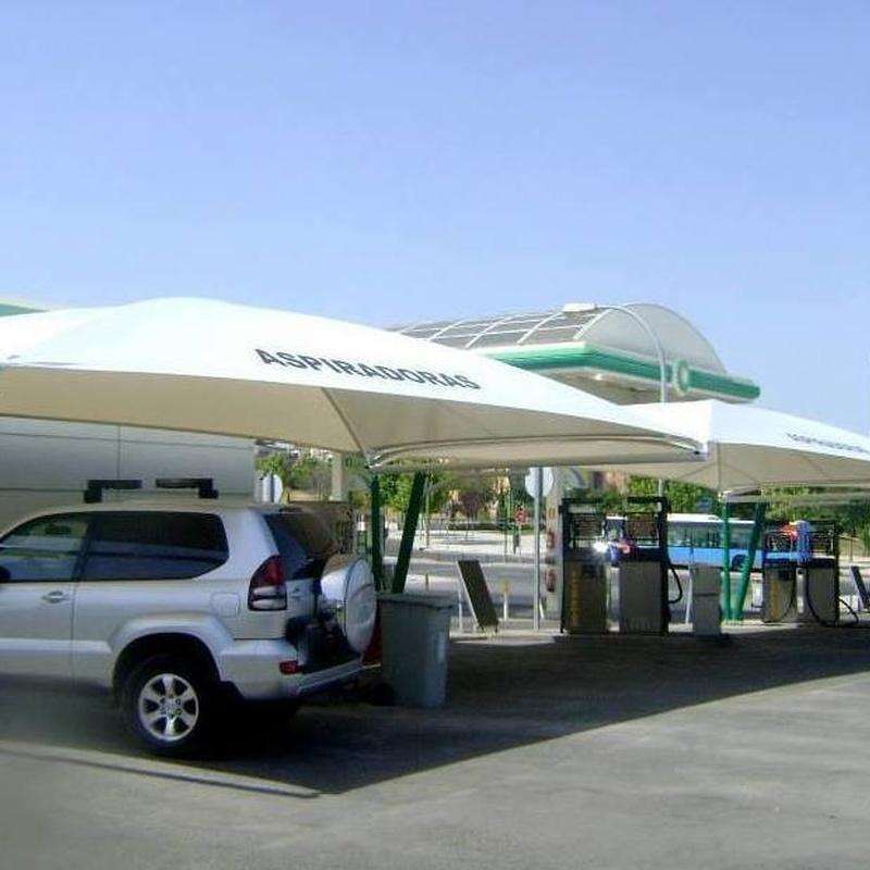 Carpas para estaciones de servicio