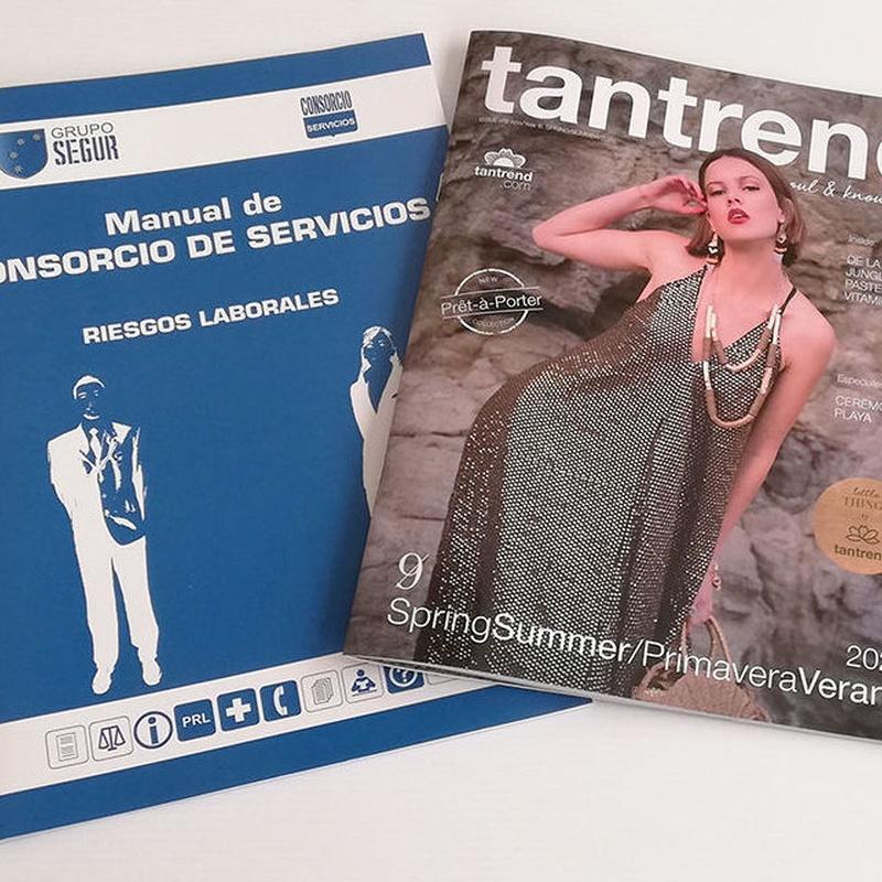 Revistas y Manuales cosido caballete 2 grapas