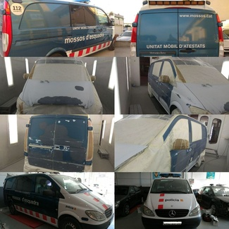 Reparación de coches cuerpos de seguridad