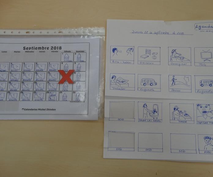 Las agendas elaboradas en el taller de APANATE: Proyectos y Servicios de Asociación Domitila