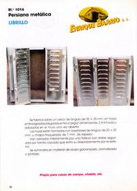 Persiana metálica: librillo: Productos y servicios de Construcciones Metálicas Enrique Barrio, S. L.