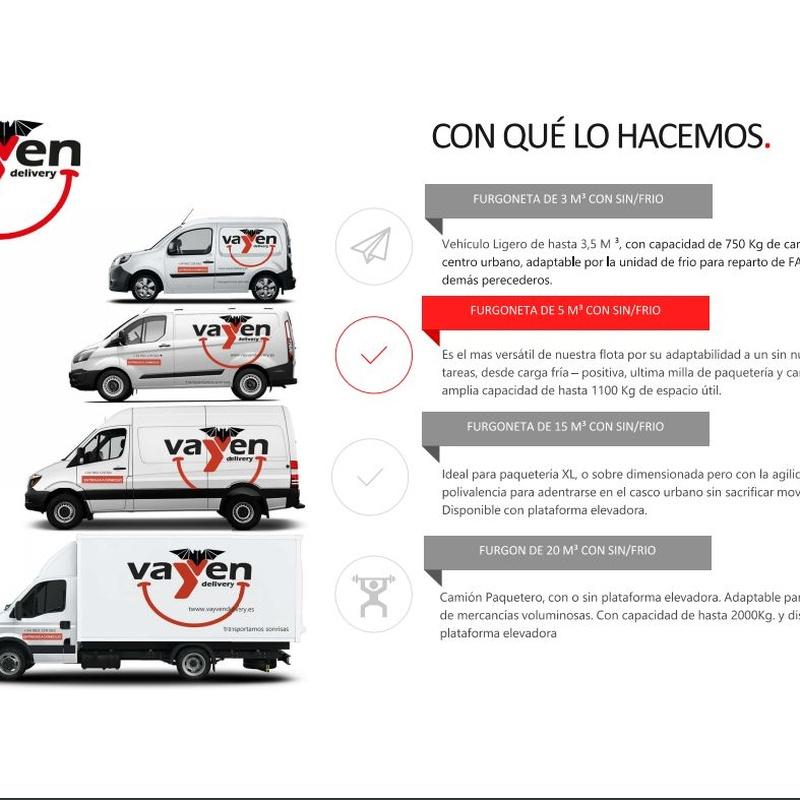 Nuestra flota: Catálogo de Vayven Delivery Valencia