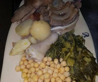 Bacalao a la portuguesa: Carta de Mesón Restaurante A Ría