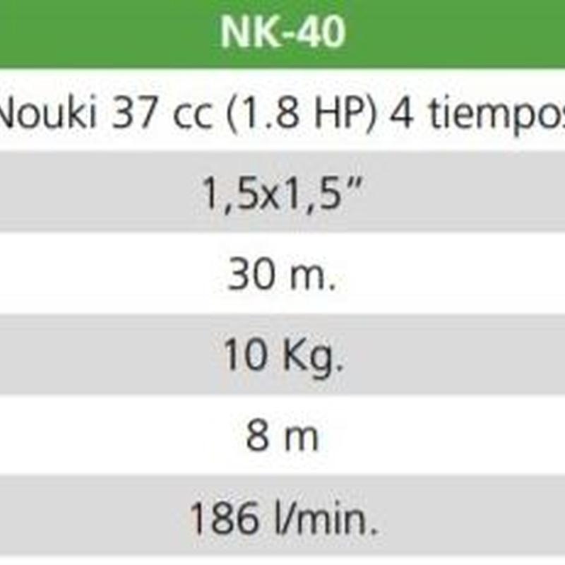 Motobomba de caudal   codigo NK-40: Productos y servicios de Maquiagri