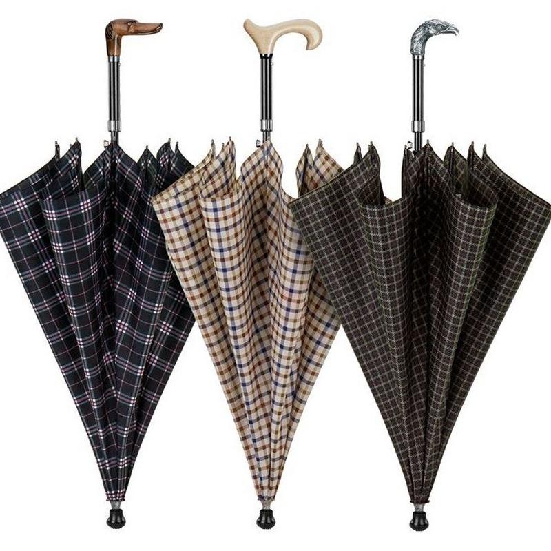Paraguas baston cuadrados