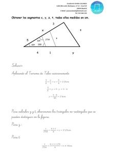 Ejercicio de Matemáticas - Triángulos