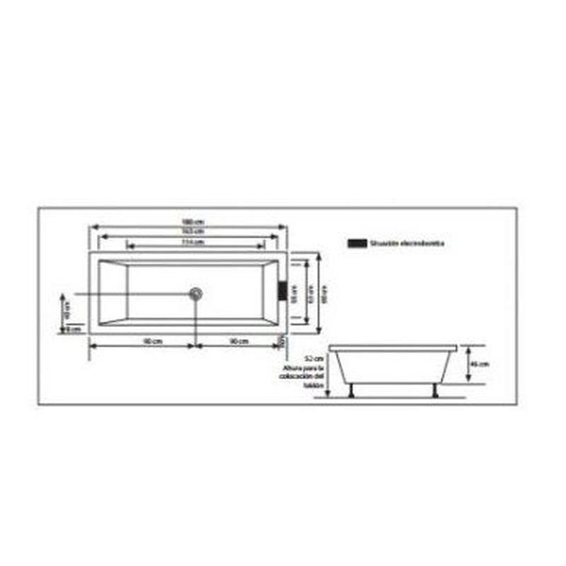 Modelo Sara 180 x 85: Nuestros productos de Aqua Sistemas de Hidromasaje
