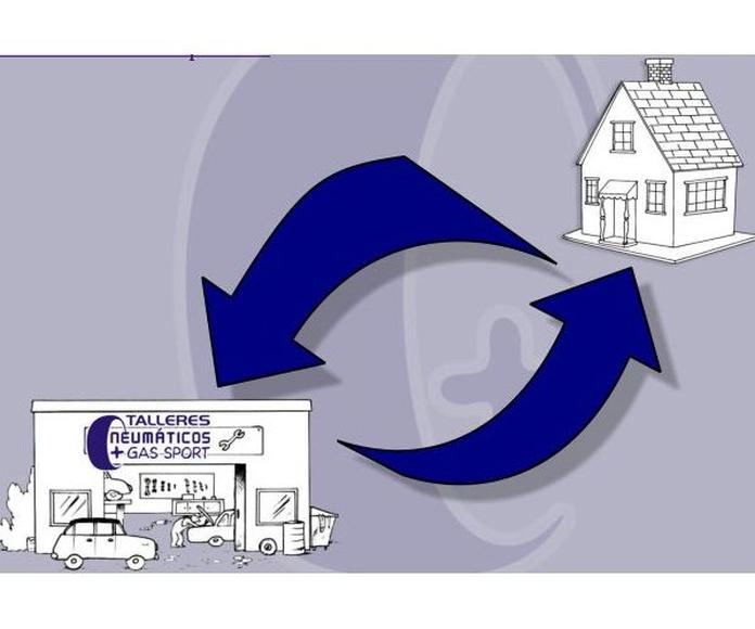 Servicio de recogida y entrega: Servicios  de Talleres y Neumáticos + Gas Sport