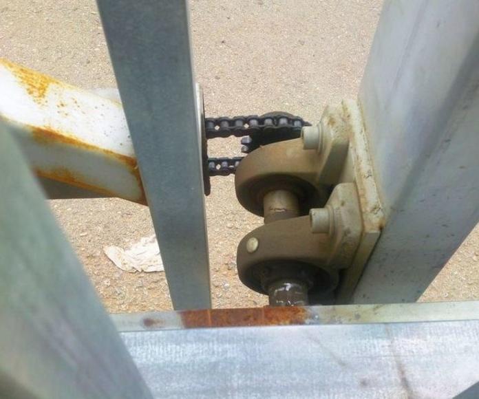 A207 herraje unión de puerta corredera telecópica