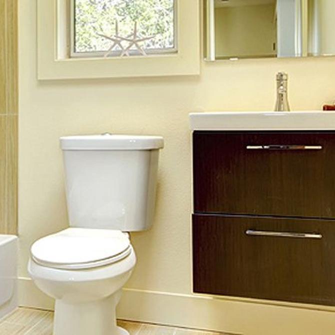 La distribución en baños pequeños